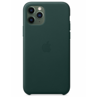 Кожаный чехол Leather Case Forest Green для iPhone 12 Pro Max