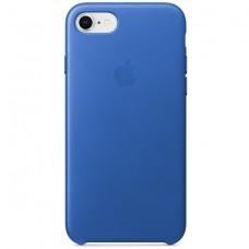 Кожаный чехол Apple Leather Case Electric Blue для iPhone 7/8