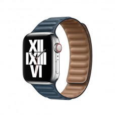 Кожаный Ремешок для Apple Watch Leather link 38/40/42/44mm Baltic Blue