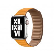 Кожаный Ремешок для Apple Watch Leather link 38/40/42/44mm California Poppy