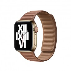 Кожаный Ремешок для Apple Watch Leather link 38/40/42/44mm Saddle Brown