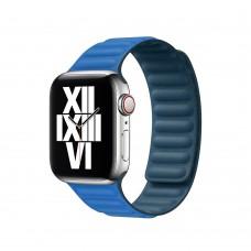 Кожаный Ремешок для Apple Watch Leather link 38/40/42/44mm Cape Code Blue