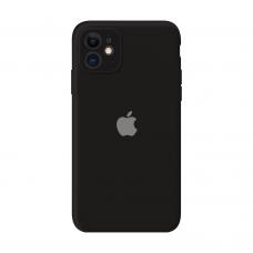 Силиконовый чехол Apple Silicone Case Black для iPhone 11 с закрытой камерой