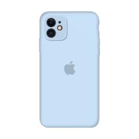 Силиконовый чехол Apple Silicone Case Sky Blue для iPhone 11 с закрытой камерой