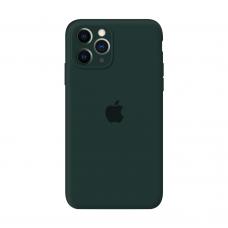Силиконовый чехол Apple Silicone Case Forest Green для iPhone 11 Pro с закрытой камерой