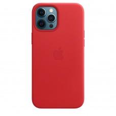 Кожаный чехол Leather Case Red для iPhone 12 Pro