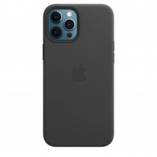 Кожаный чехол Leather Case Black для iPhone 12 Pro
