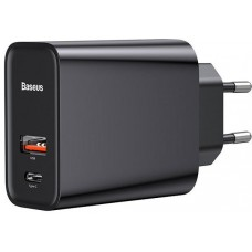 СЗУ BASEUS Speed PPS Quick Charger PDout/USB/30W/5A/QC/PD Black