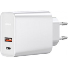 СЗУ BASEUS Speed PPS Quick Charger PDout/USB/30W/5A/QC/PD White